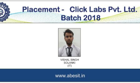 Selection in  ​ Click Labs Pvt Ltd.
