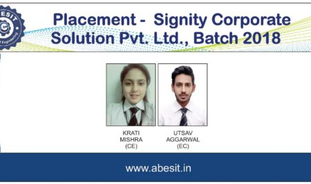 Selections in  Signity Corporate Solution Pvt.  Ltd.