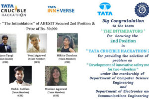 2nd Position in TATA Crucible Hackathon 2020